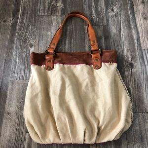 lucky brand tan tote bag